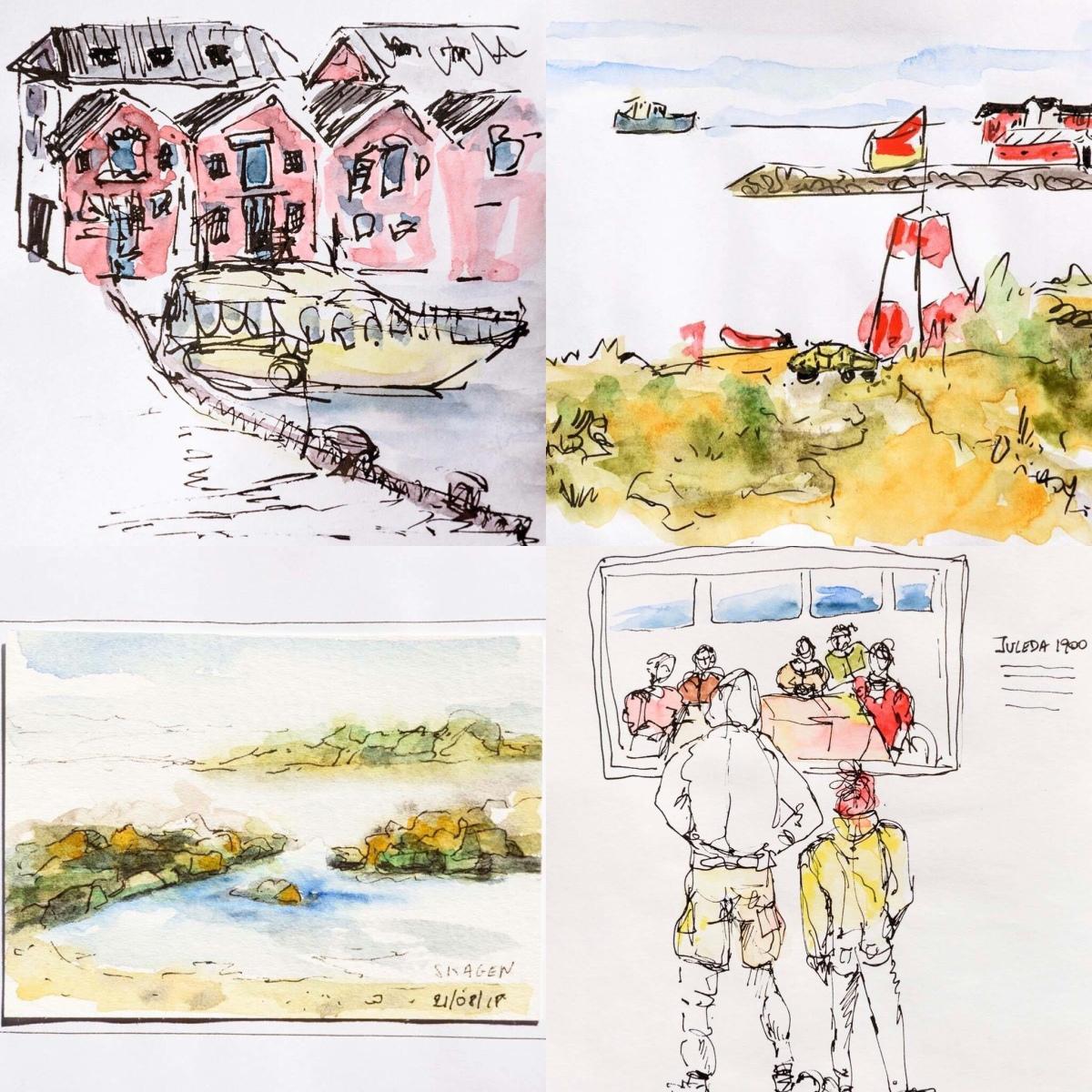 Quick sketches. Skagen. Denmark