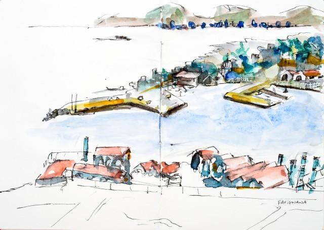 Sketch. Favignana. Sicile