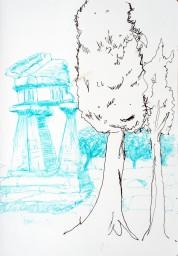 Sketch. Agrigente. Sicile