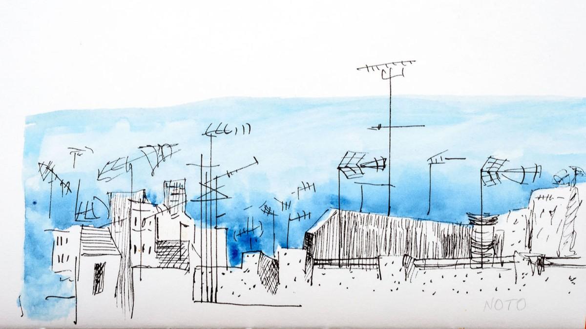 Sketch. Noto. Sicile.