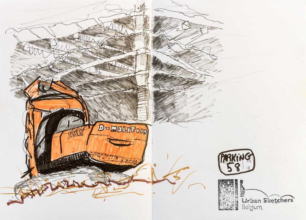 Destruction du Parking 58 à Bruxelles