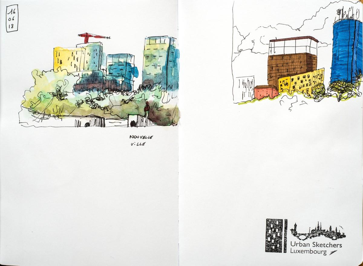 2018. USK Luxembourg. Sketch week-end. La nouvelle ville.