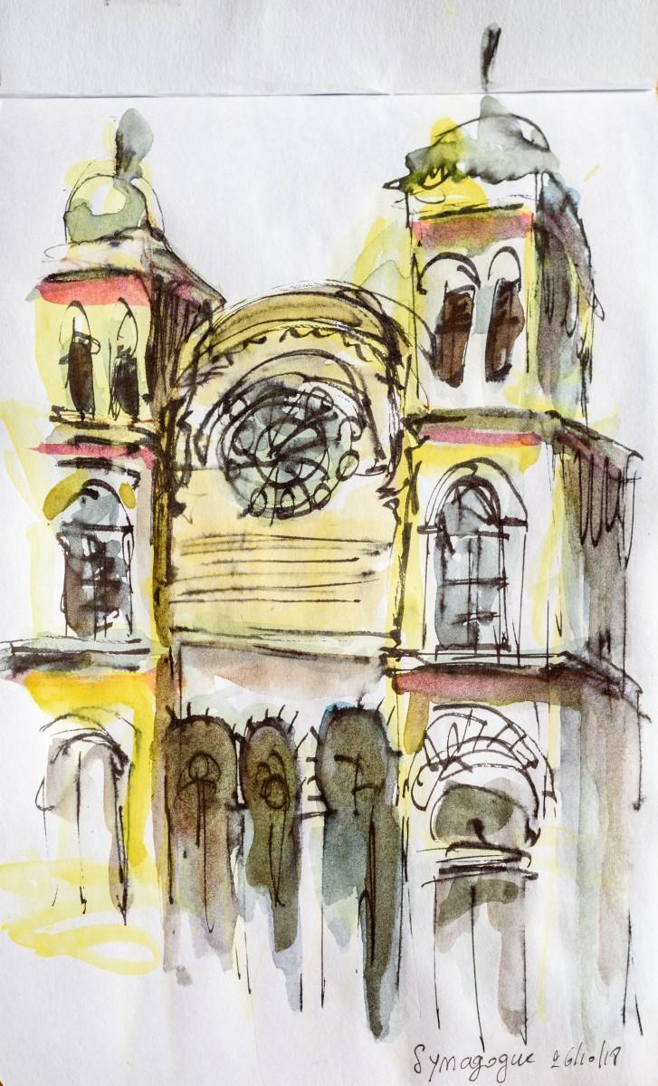 Synagogue de Turin, Italie
