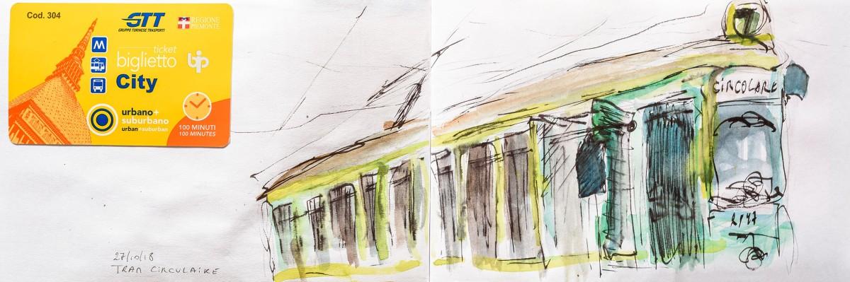 Tram circulaire, Torino, Italia