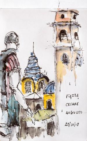 Piazza Cesare Augusto, Torino, Italia
