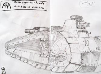 Char Renault FT17 au Musée royal de l'Armée et d'Histoire militaire