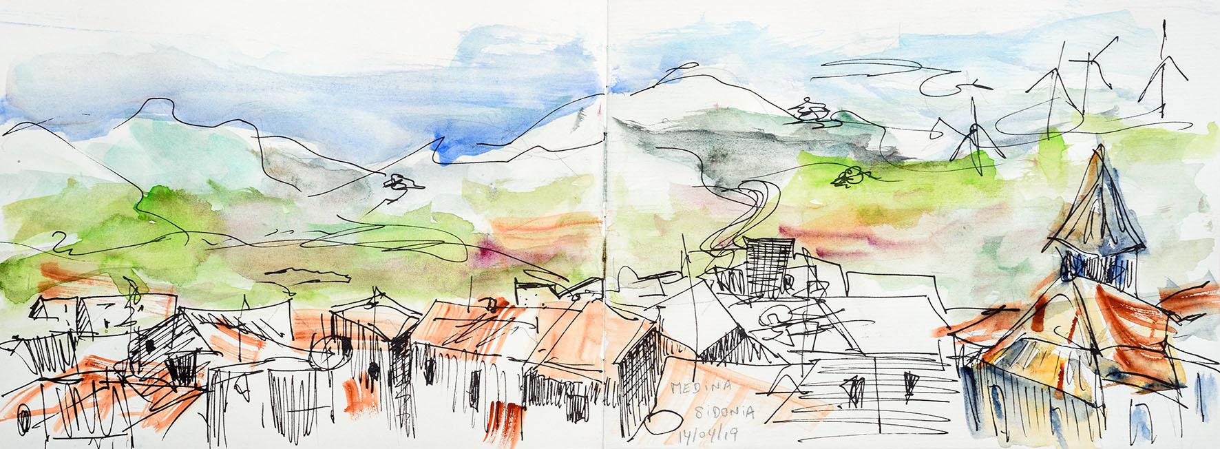 Medina-Sidonia, vue des hauteurs