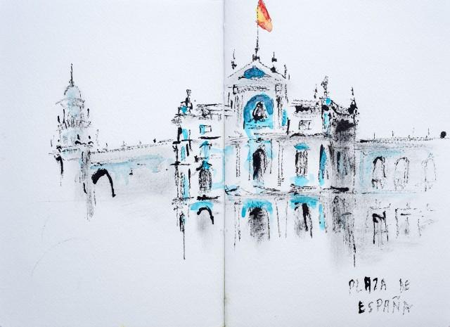 Séville, place d'Espagne