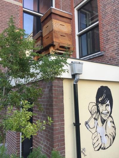 Des ruches sur le toit à Amsterdam