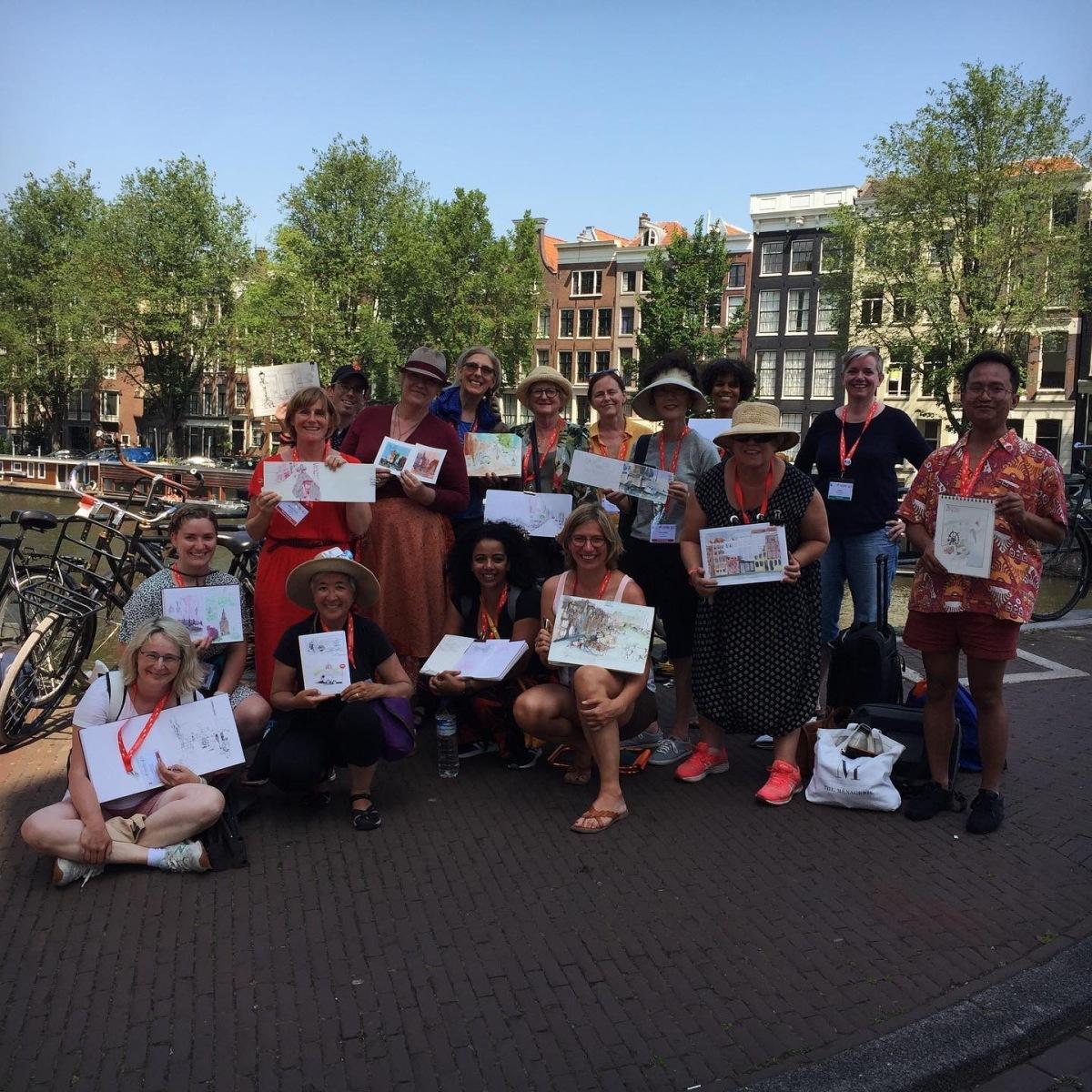 Workshop avec Nina Johansson lors du 10e symposium des USK à Amsterdam
