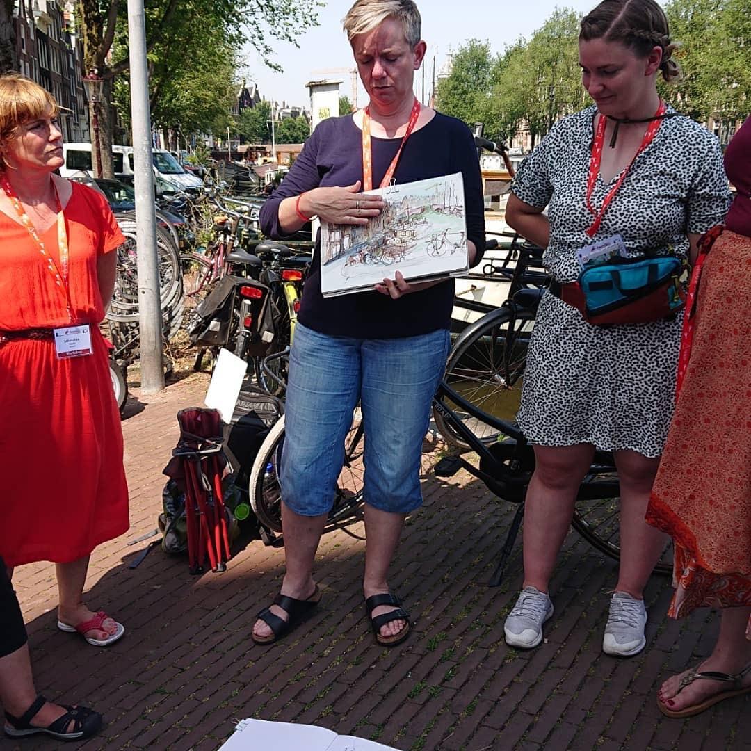 Workshop avec Nina Johansson lors du 10e symposium des USK à Amsterdam. Explication.